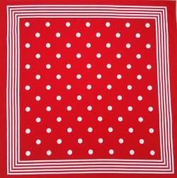 Boerenzakdoek - rood & witte stippen - grote stip