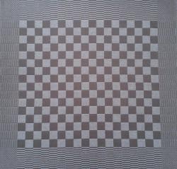 theedoek/pompdoek - grijs/taupe geblokt - 65 x 65 cm