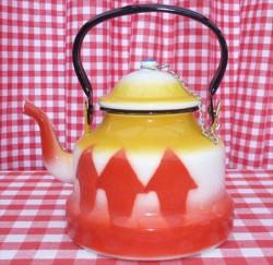 waterketel - rood & geel - 1,75 liter