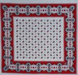 Boeren zakdoek - boontjes wit & rood - 58 x 58 cm