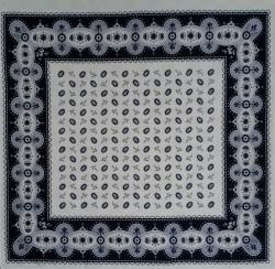 Boeren zakdoek - boontjes wit & blauw - 58 x 58 cm