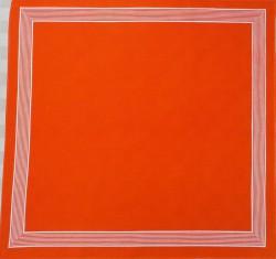 Oranje zakdoek - wit gestreepte rand - 58 x 58 cm
