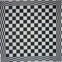 keukendoek/handdoek - zwart geblokt - 50 x 50 cm (zwart-wit)