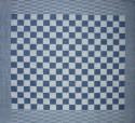 theedoek/pompdoek - donkerblauw geblokt - 65 x 65 cm (blauw-wit)