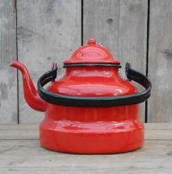 waterketel  - rood - 3,5 liter