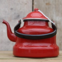 waterketel - rood - 1,75 liter