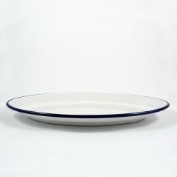 serveerschaal / ovaal bord - wit -35x25 cm