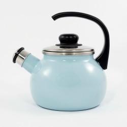 fluitketel - AMSTERDAM - 2 liter - lichtblauw & crème