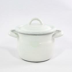 kookpannetje - wit - donkerblauwe rand - 1250 ml - 1,25 liter