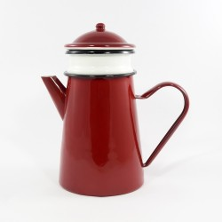 koffiekan - donkerrood - 1,5 liter