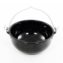 kookpotje - zwart & spikkeltjes - 750 ml
