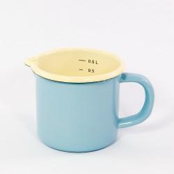 maatkan - AMSTERDAM - lichtblauw & crème - 600 ml