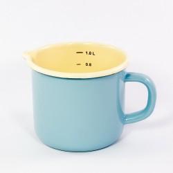 maatkan - AMSTERDAM - lichtblauw & crème - 1 liter / 1000 ml