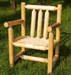stoel - 'Dieneke' - rondhout
